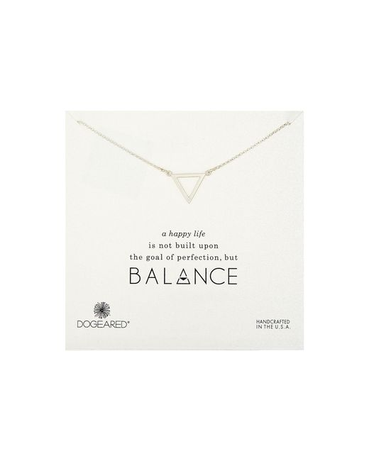 Dogeared | Metallic Balance Large Open Triangle Necklace | Lyst
