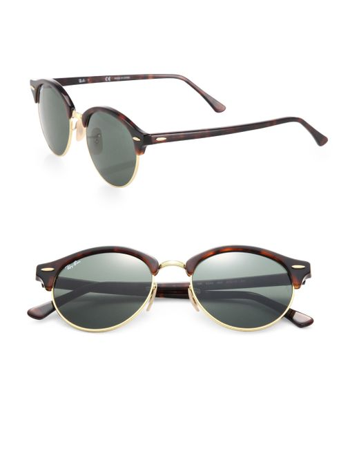 469cf7d1d1 Ray Ban Solid 51mm Round Sunglasses