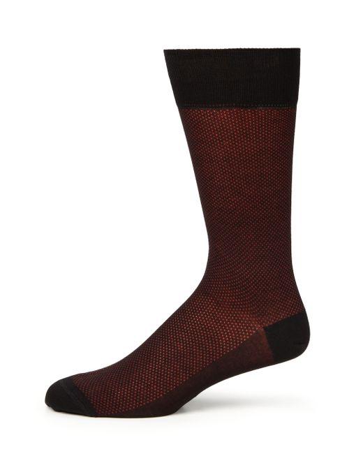 Saks Fifth Avenue | Red Bird's Eye Dress Socks for Men | Lyst