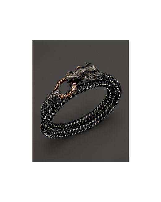 John Hardy | Black Men's Naga Double Wrap Dragon Cord Bracelet for Men | Lyst