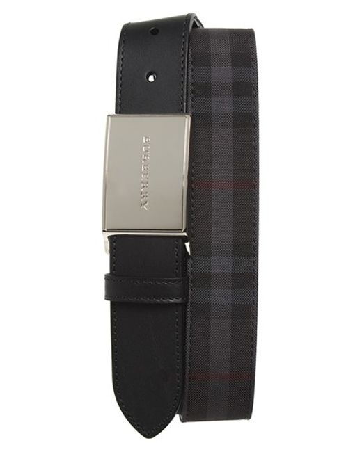 Burberry | Black 'charles' Belt for Men | Lyst