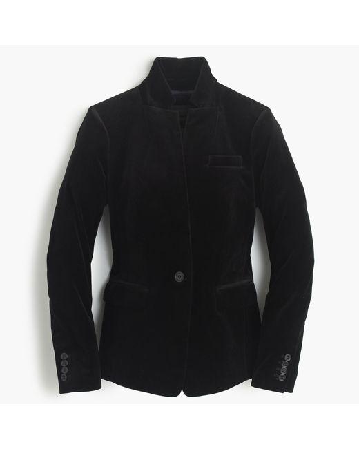 J.Crew | Black Tall Regent Blazer In Velvet | Lyst