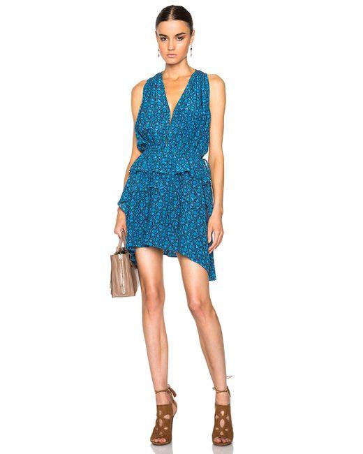 10 Crosby Derek Lam   Blue Medallion Floral Dress   Lyst