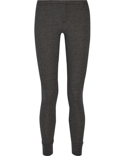 Splendid | Gray Waffle-knit Leggings | Lyst