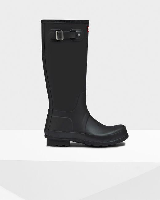 Hunter   Black Men's Norris Field Side Adjustable Neoprene Lined Rain Boots for Men   Lyst