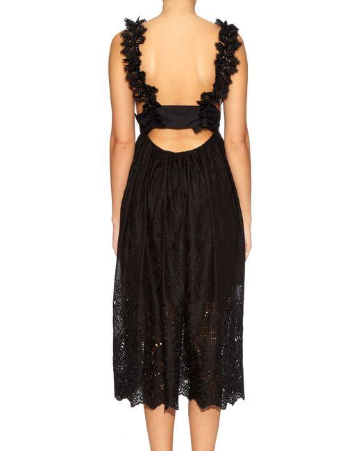 Zimmermann | Black Alchemy Flutter Eyelet-Lace Dress | Lyst