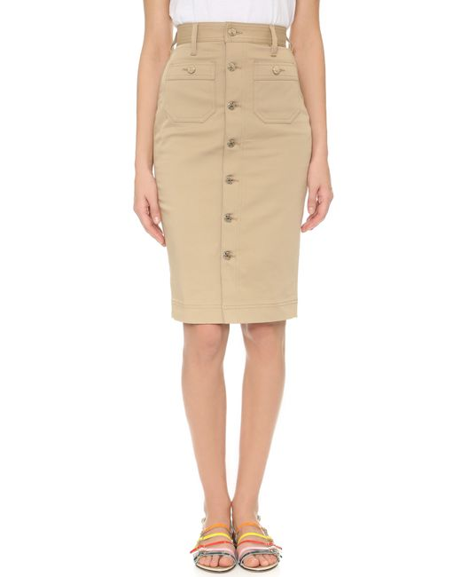 dsquared 178 high waisted skirt in beige camel save 40