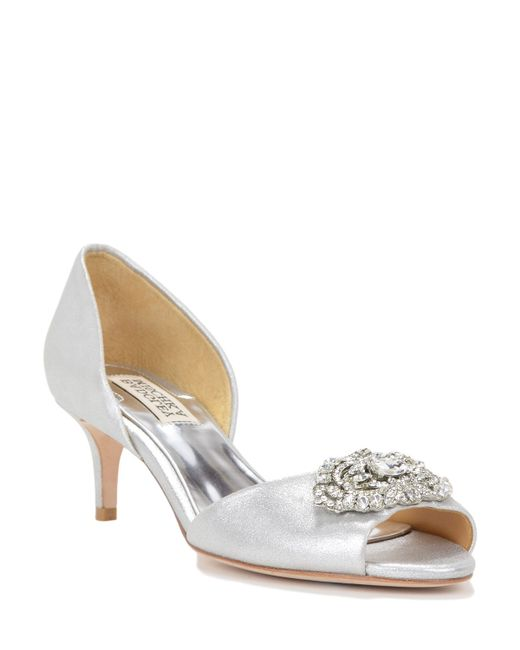 Badgley Mischka | Petrina-ii D'orsay Metallic Evening Shoe | Lyst