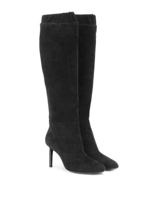 tom ford heeled suede knee high boots in black lyst