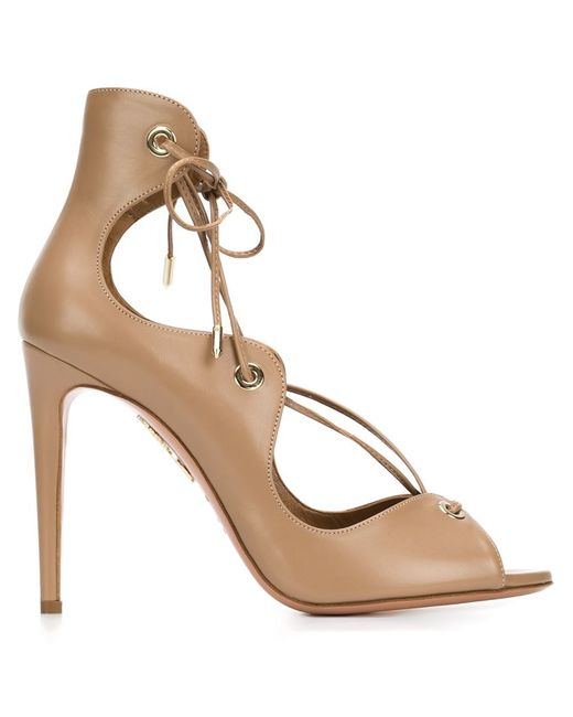 Aquazzura | Brown Biscotto Tango Sandal | Lyst