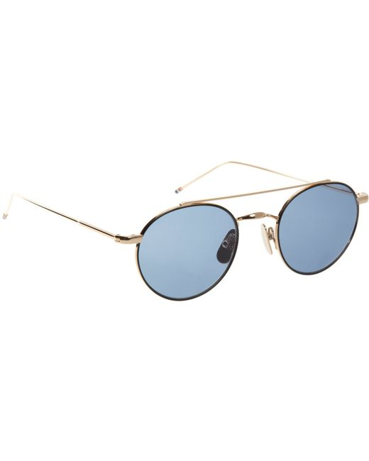 Thom browne Round-Frame Sunglasses in Blue for Men ...