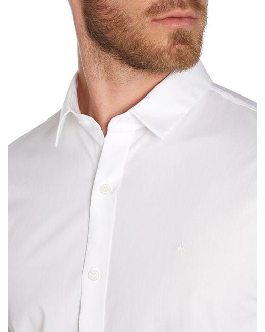 Calvin Klein | White Wilbert Slim Fitting Shirt for Men | Lyst