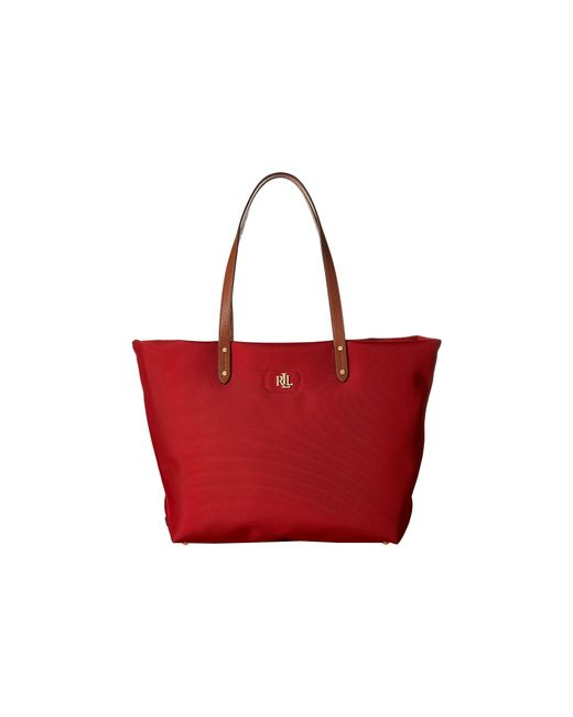 Lauren by Ralph Lauren | Red Bainbridge Tote | Lyst