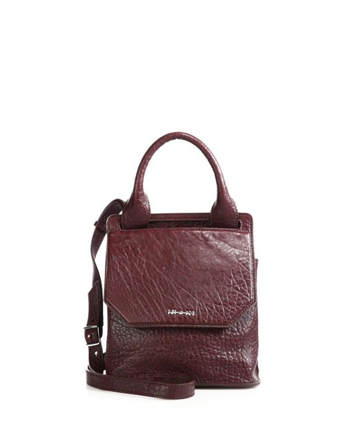 McQ | Purple Mini Ruin Pebbled Leather Crossbody Bag | Lyst