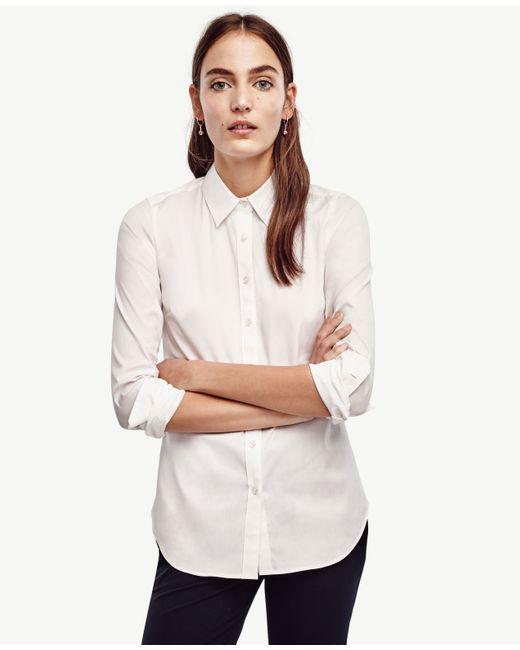 Ann Taylor | White Perfect Shirt | Lyst