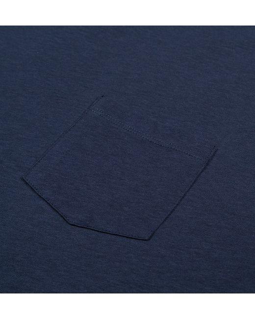 Sunspel | Blue Men's Fine Merino Wool Polo In Light Navy for Men | Lyst