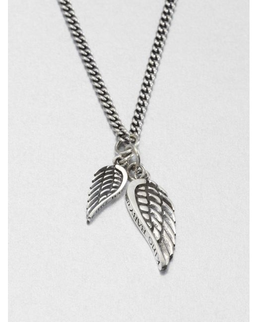 King Baby Studio | Metallic Double Wing Pendant Necklace | Lyst