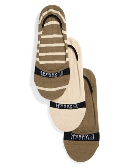 Sperry Top-Sider | Brown 'signature Invisible' Socks for Men | Lyst