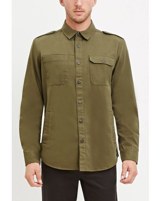 Forever 21 | Natural Classic Cotton Shirt for Men | Lyst