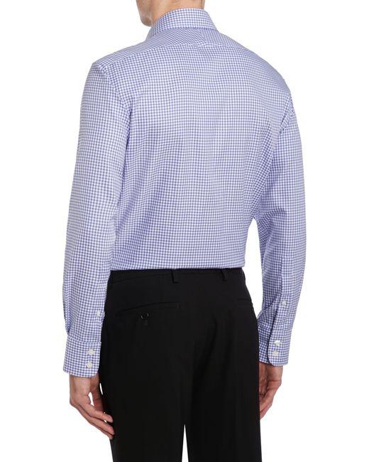 Tm Lewin Gingham Check Slim Fit Long Sleeve Formal Shirt