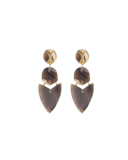 Kara Ross | Multicolor Gold, Agate And Diamond Arrow Earrings | Lyst
