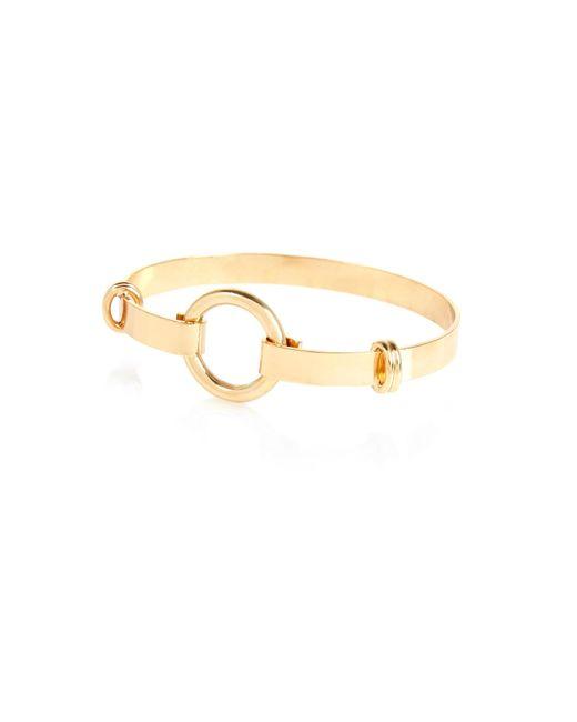 River Island | Metallic Gold Tone Minimal Circle Cuff Bracelet | Lyst