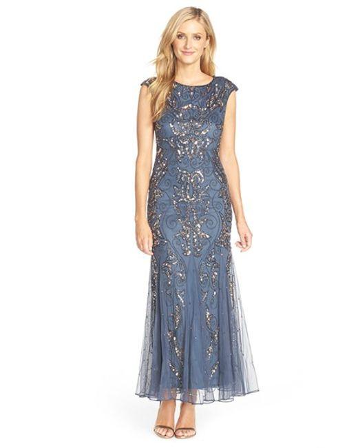 Pisarro Nights   Gray Beaded Mermaid Dress   Lyst
