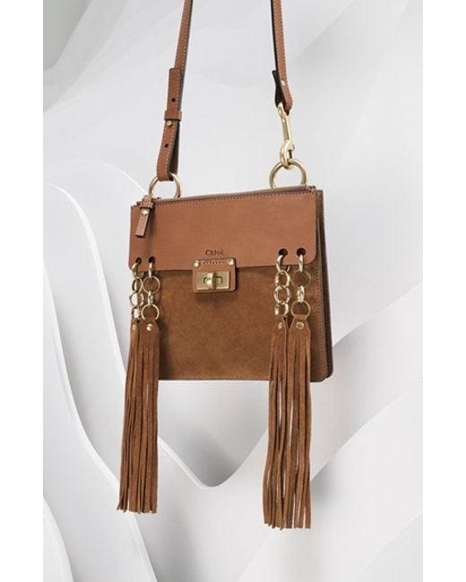knockoff chloe bags - Chlo�� 'jane' Fringe Calfskin Suede Crossbody Bag in Brown | Lyst