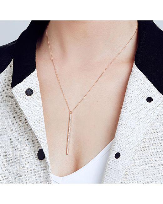 Carbon & Hyde | Pink Goldbar Necklace | Lyst