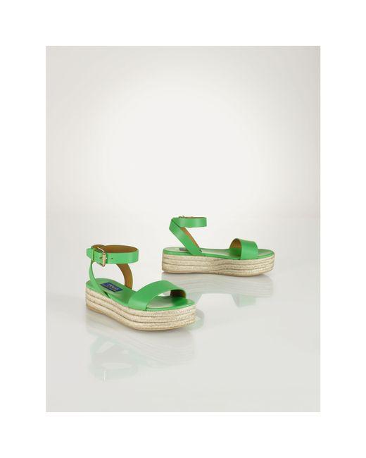 Polo Ralph Lauren | Green Bailey Vachetta Espadrille | Lyst