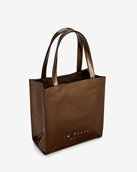 Ted Baker | Brown Small Crystal Bow Trim Shopper Bag | Lyst
