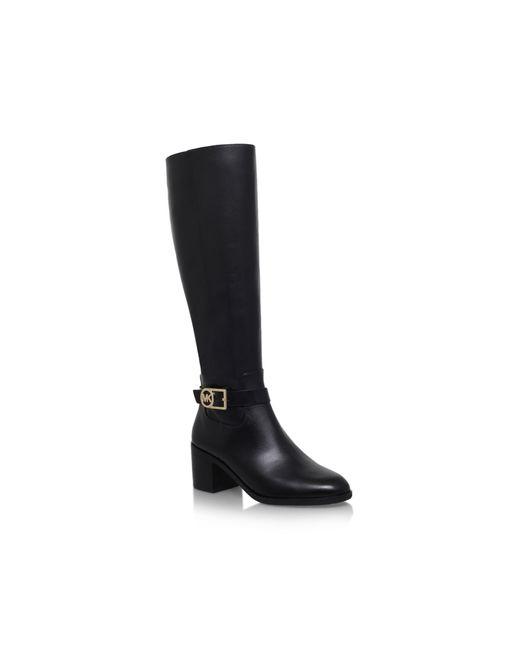 michael kors bryce high heel knee boots in black save 41