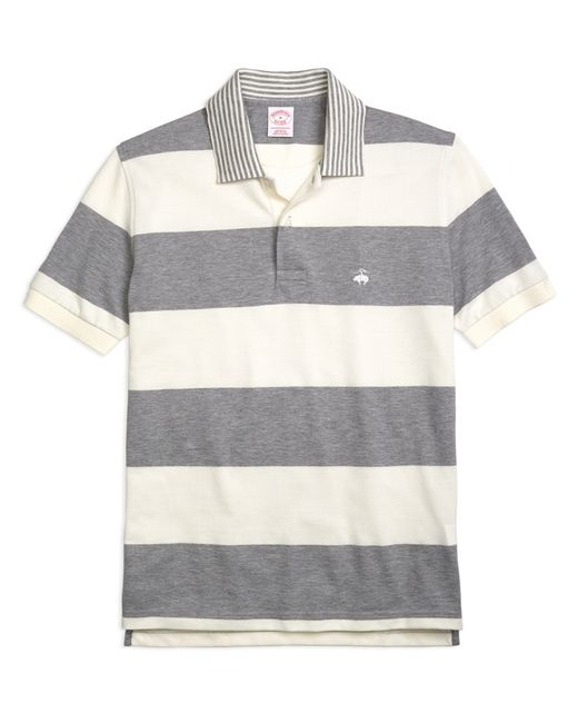 Brooks Brothers | Gray Original Fit Engineered Rugby Stripe Polo Shirt for Men | Lyst