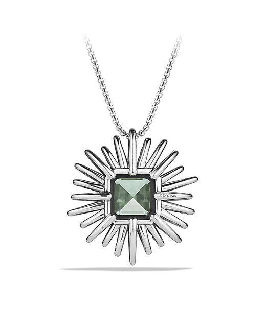 David Yurman | Green Starburst Pendant Necklace With Prasiolite And Diamonds, 38mm | Lyst