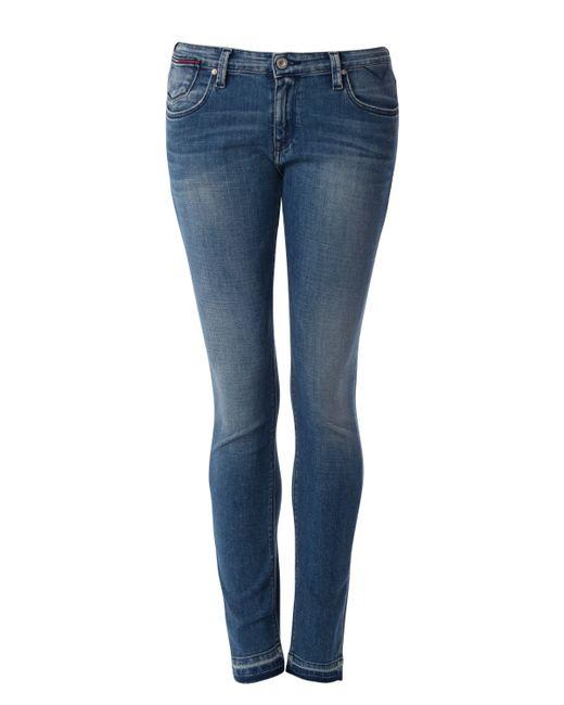 tommy hilfiger mid rise skinny naomi jeans in blue denim. Black Bedroom Furniture Sets. Home Design Ideas