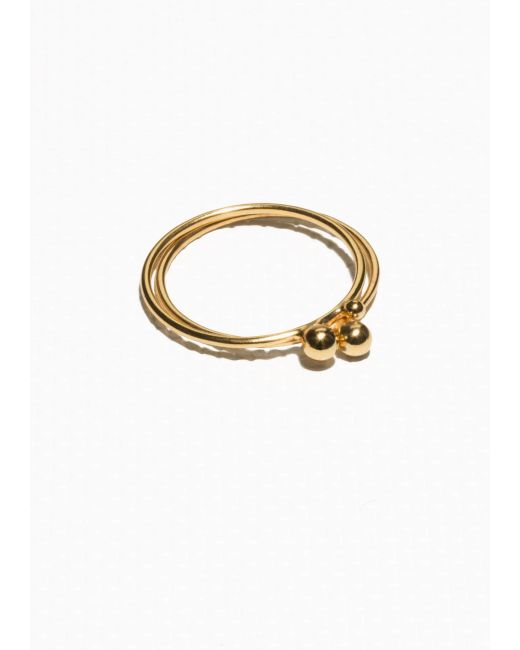 & Other Stories | Metallic Gold Plated Ring Set | Lyst
