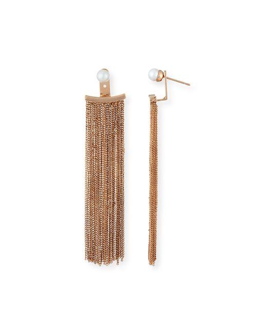 Vita Fede | Pink Bianca Pearl Fringe Earrings | Lyst