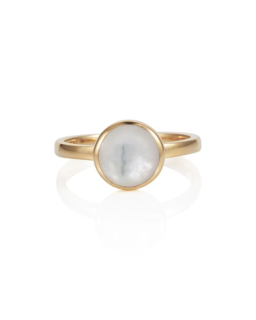 Caroline Creba | Metallic 18ct Gold Plated Sterling Silver 2ct Mother Of Pe | Lyst