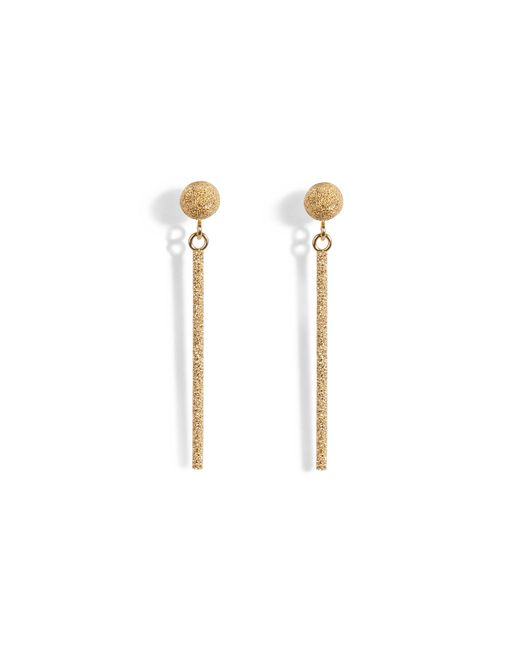 Carolina Bucci | Metallic 18k Gold Mirador Sparkly Stud Drop Earrings | Lyst