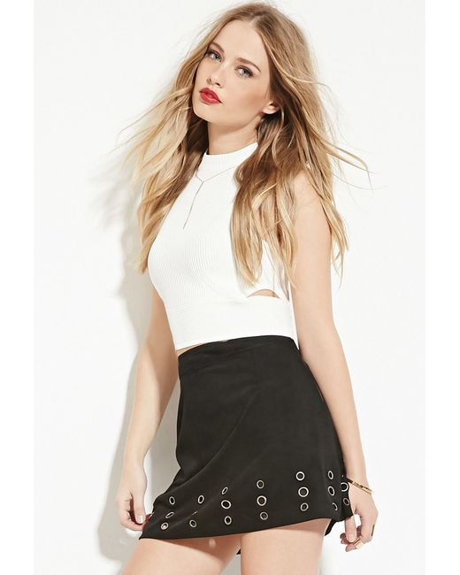 Forever 21 | White Endless Rose Side-cutout Crop Top | Lyst