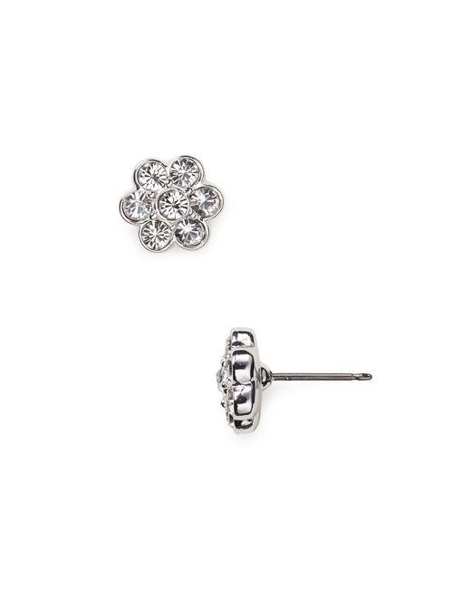 Carolee | Gray Floral Stud Earrings | Lyst