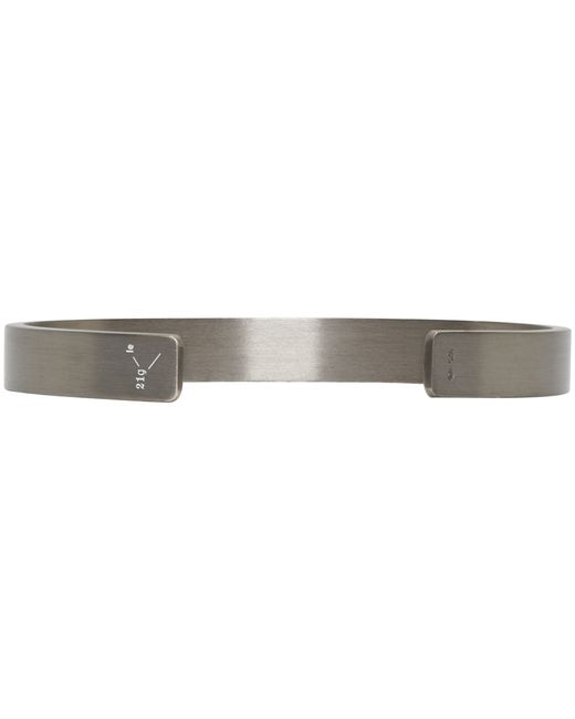 Le Gramme | Black Silver Le 21 Grammes Cuff for Men | Lyst