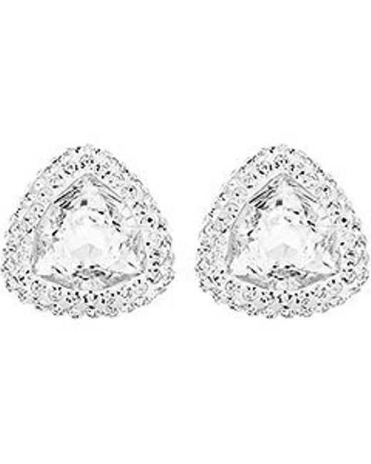 Swarovski | Metallic Begin Stud Pierced Earrings | Lyst