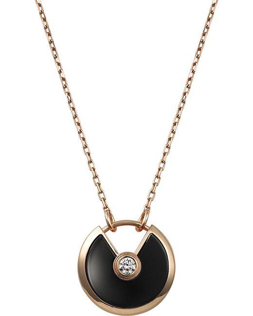 Cartier | Amulette De Pink Gold Necklace | Lyst