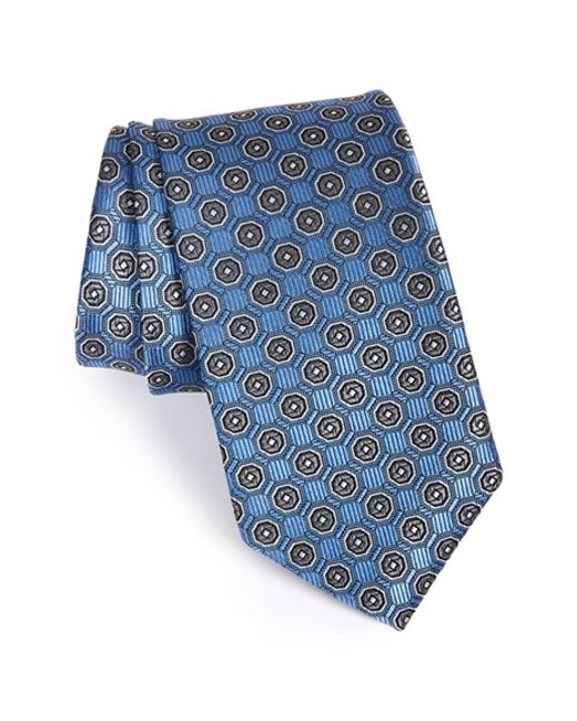 JZ Richards | Blue Medallion Woven Silk Tie for Men | Lyst