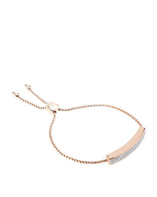 Monica Vinader | Pink Baja Chain Diamond Bracelet | Lyst