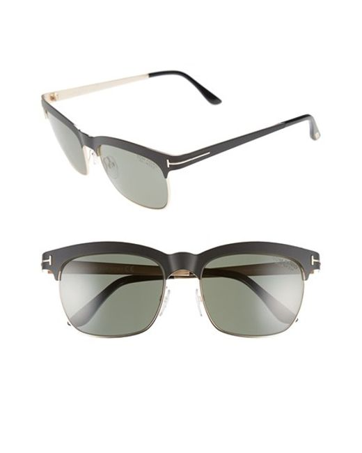 Tom Ford | Black 'elena' 54mm Retro Polarized Sunglasses | Lyst