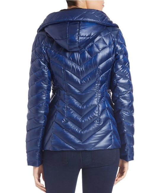 Vince Camuto | Blue Quilted Puffer Jacket | Lyst