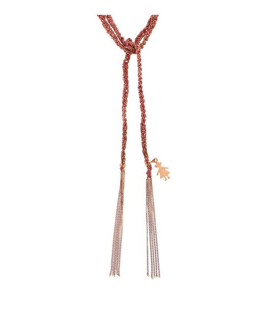 Carolina Bucci | Metallic Lucky Silk Tie Necklace | Lyst
