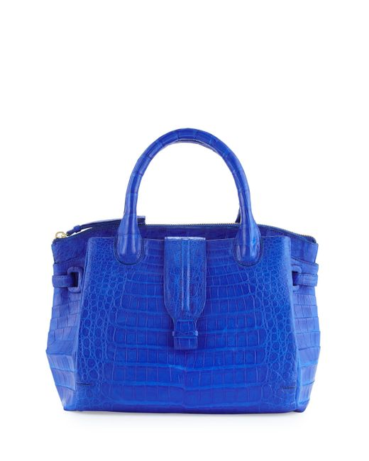 nancy gonzalez new cristina medium crocodile tote bag in